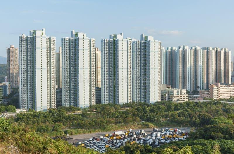 Propriet? pubblica nella citt? di Hong Kong fotografie stock libere da diritti