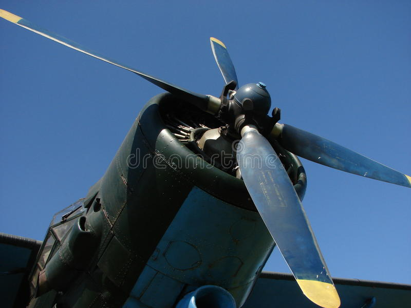 Propulseur d'avion photo stock