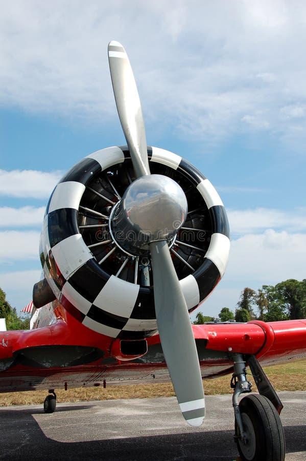Propulseur d'avion de cru photo stock