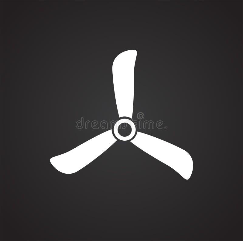 Propulseur de bourdon sur le fond noir pour le graphique et la conception web, signe simple moderne de vecteur Internet bleu de c illustration de vecteur