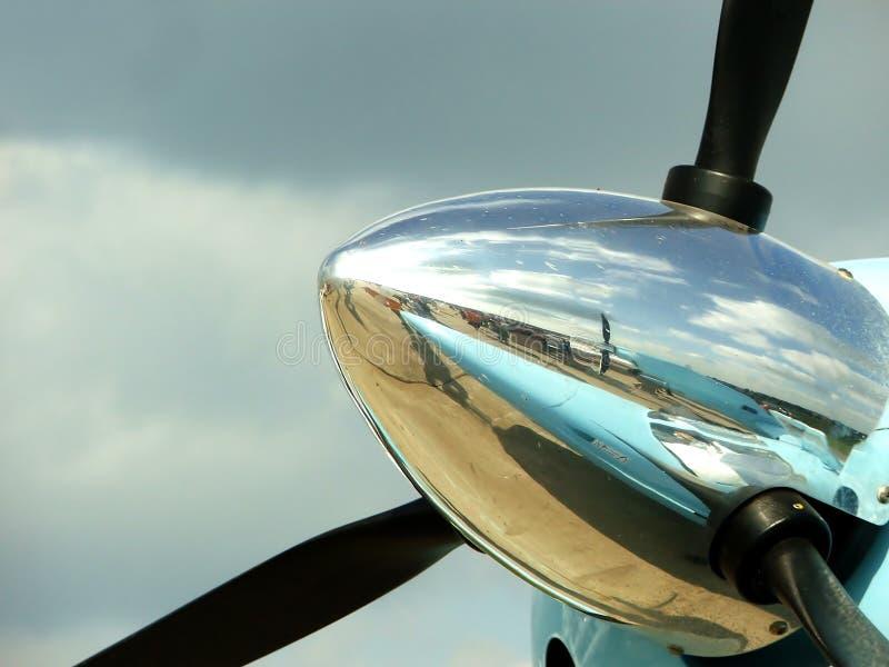 Propulsor de los aviones foto de archivo