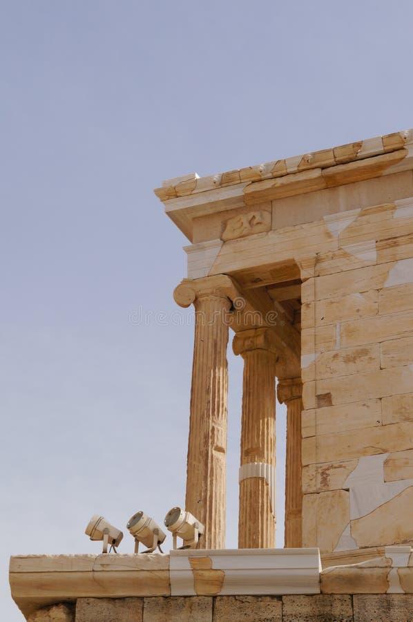 Propylaea, монументальный вход акрополя, Афин Греции стоковое фото