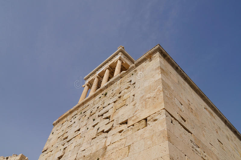 Propylaea, монументальный вход акрополя, Афин стоковое фото