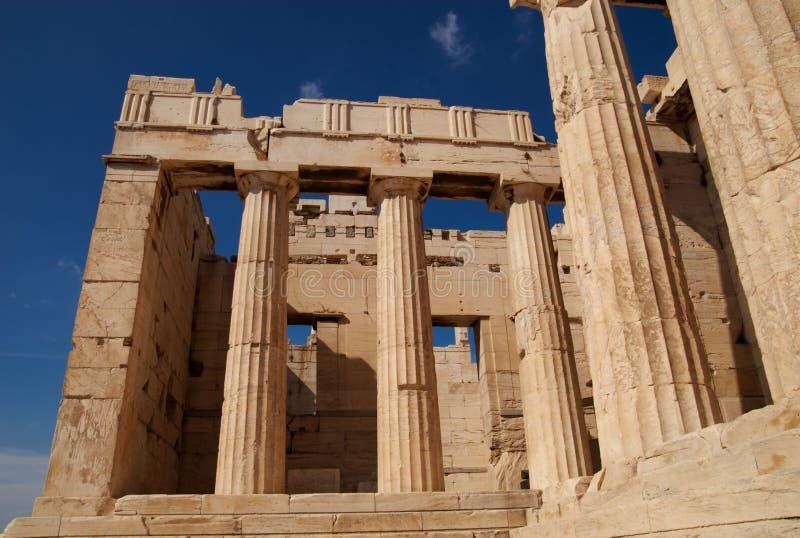 Propylaea, Atenas, Grecia foto de archivo libre de regalías