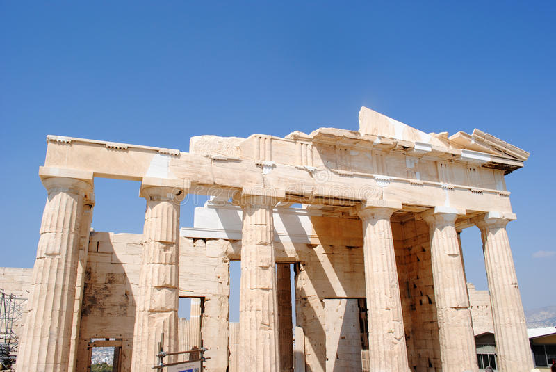 Propylaea rückseitige Ansicht stockfotos