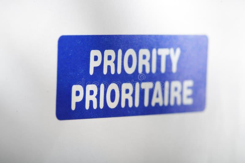 prority стоковое изображение rf