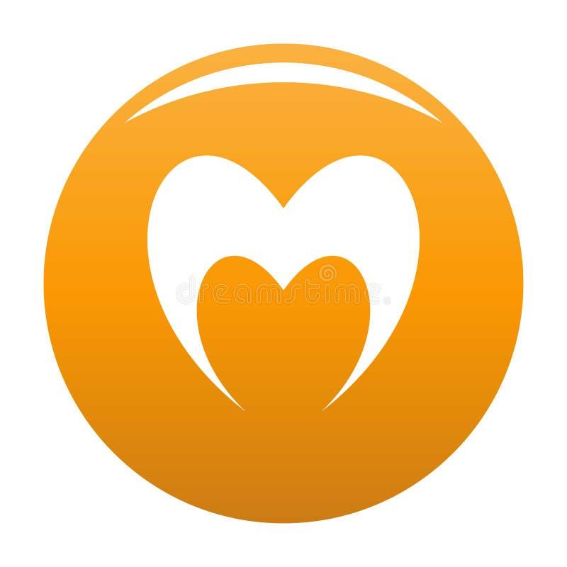 Prorocka kierowa ikony pomarańcze ilustracja wektor