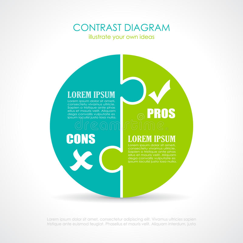Free Pros And Cons Diagram Stock Photography - 79739112