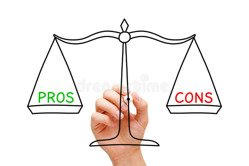 Pros Cons Balance Scale Concept royalty free stock photography
