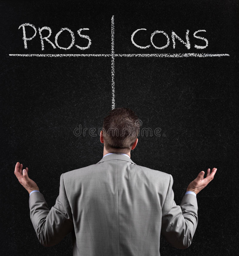 Download Pros and cons stock photo. Image of drawing, asking, inspiration - 30704532