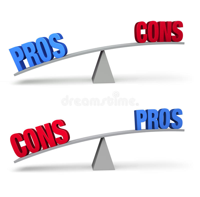 Pros and Cons Set vector illustration
