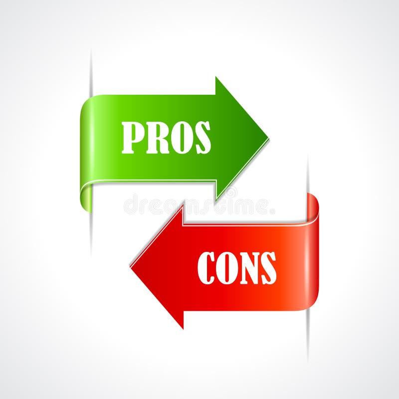 Pros - en - cons.linten vector illustratie
