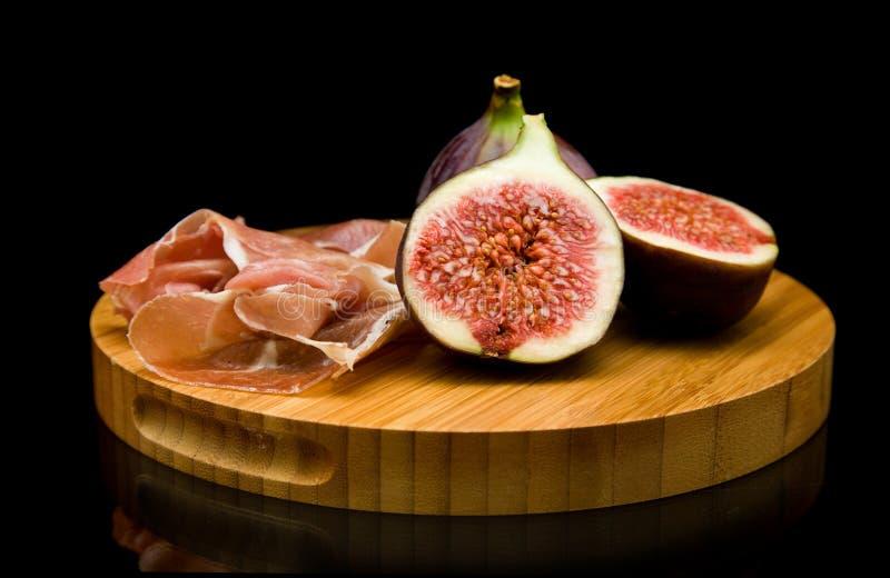 prosciutto смокв свежее стоковая фотография