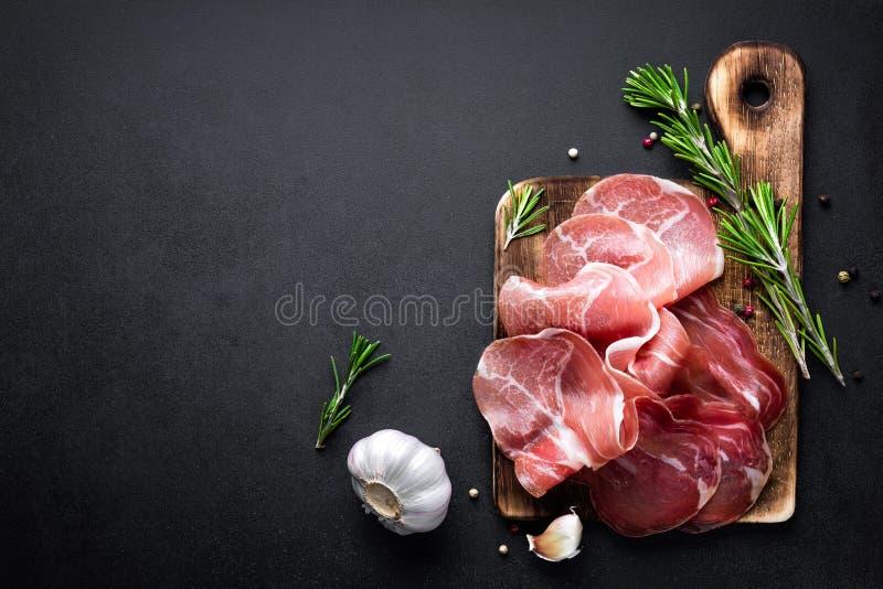 prosciutto 免版税库存图片