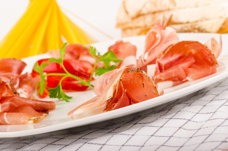Prosciutto Appetizer Royalty Free Stock Images