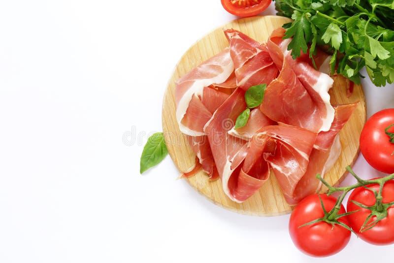 Prosciutto di Parma affumicato immagine stock libera da diritti