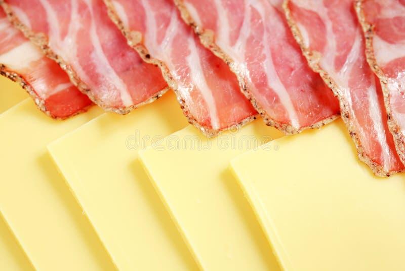 Prosciutto e formaggio immagine stock libera da diritti