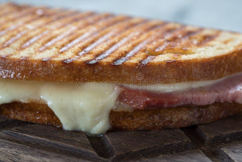Prosciutto e formaggio cotti fotografia stock libera da diritti