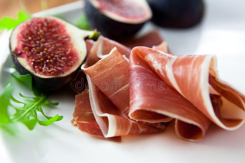 Download Prosciutto with fresh figs stock photo. Image of closeup - 11316108