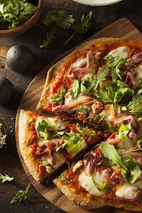 Prosciutto i Arugula pizza zdjęcie royalty free