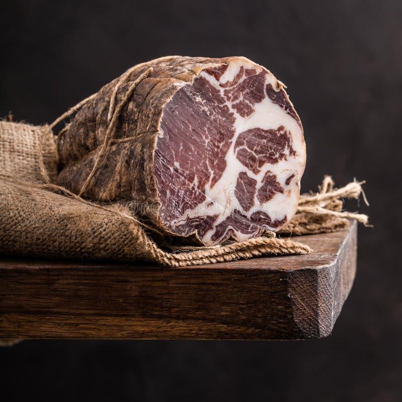 Prosciutto italiano fotografia de stock