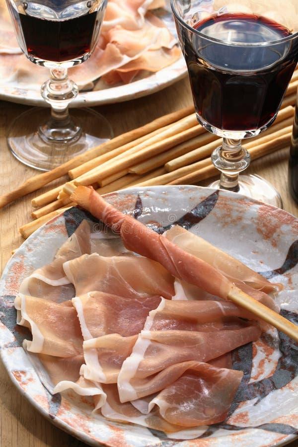 Prosciutto italien de jambon photo stock