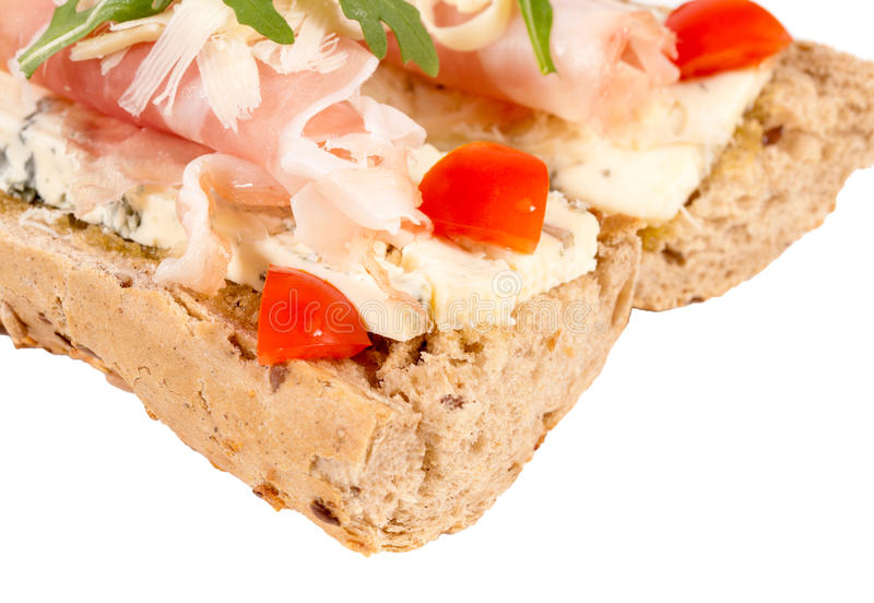 Prosciutto kanapka obrazy stock