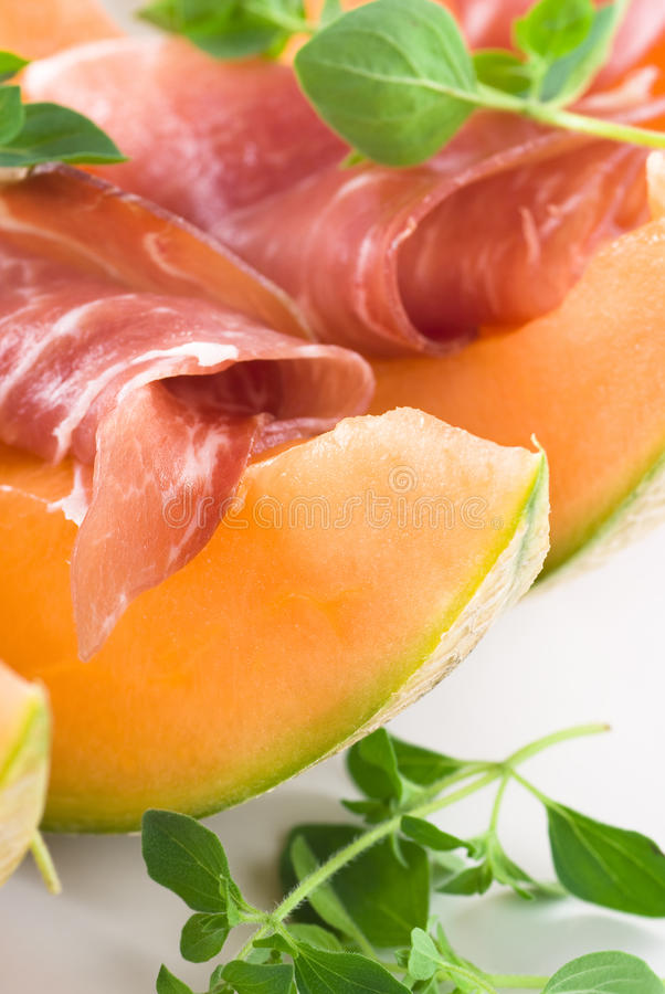Prosciutto And Melon stock images