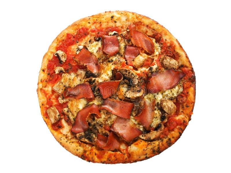 Prosciutto pizza fotografia stock