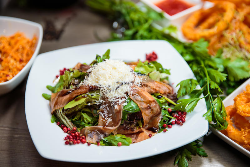 Prosciutto Salad royalty free stock photos
