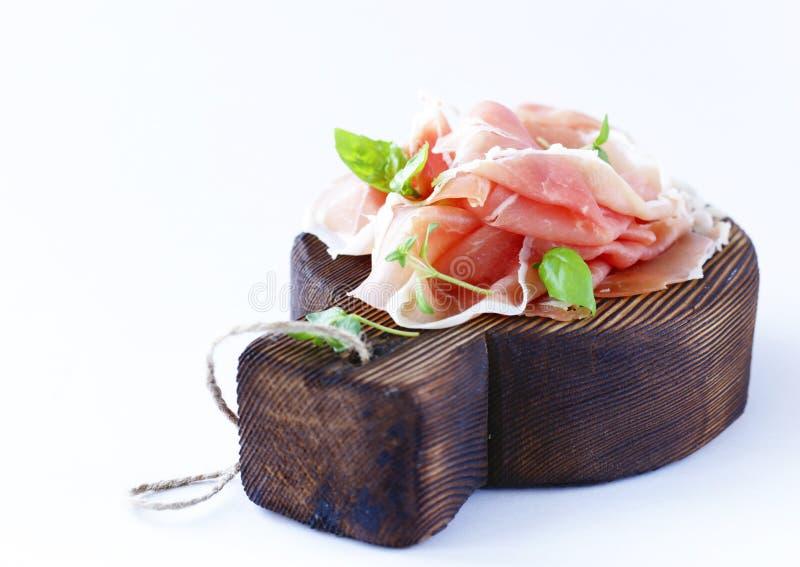 Prosciutto secco italiano di Parma fotografia stock