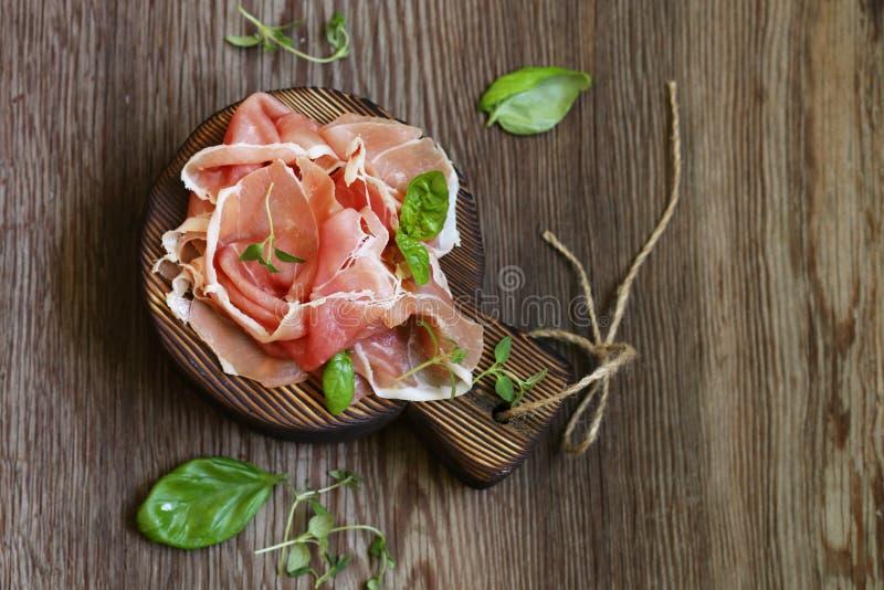Prosciutto secco italiano di Parma immagini stock