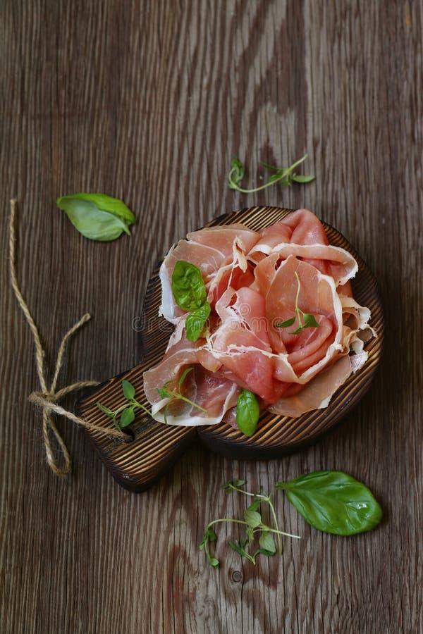 Prosciutto secco italiano di Parma fotografia stock libera da diritti