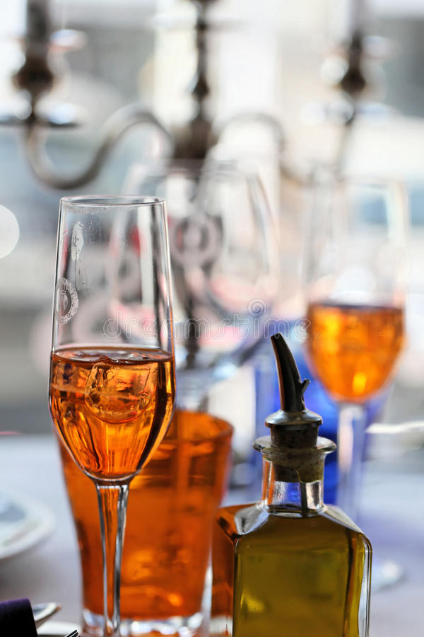 Download Prosecco and Aperol Spritz stock image. Image of drink - 18644657