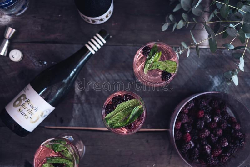 Prosecco Cocktail stock images