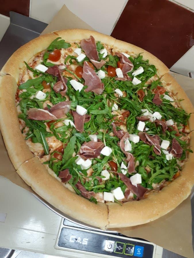 Proshutto della pizza fotografia stock libera da diritti