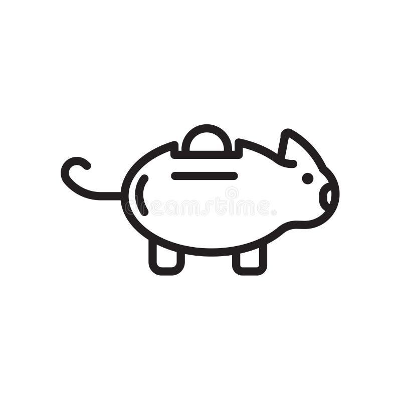Prosiątko banka ikona odizolowywająca na białym tle zdjęcia royalty free