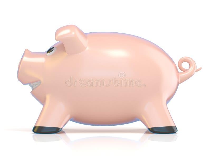 Prosiątko banka pojęcie, Ceramiczna świnia 3d ilustracja wektor