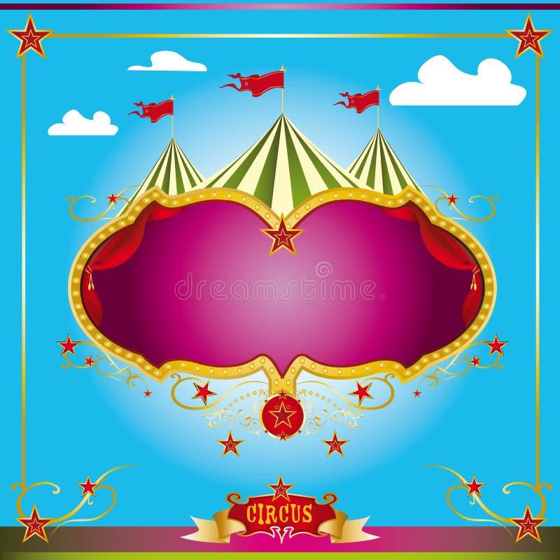 Prospecto de la diversión del circo ilustración del vector