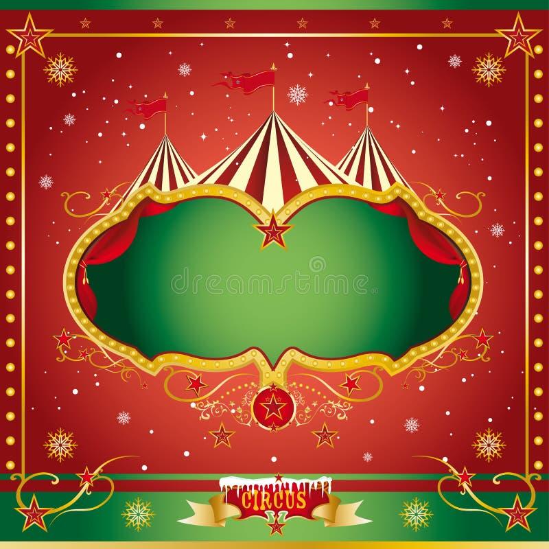 Prospecto de la Navidad del circo stock de ilustración