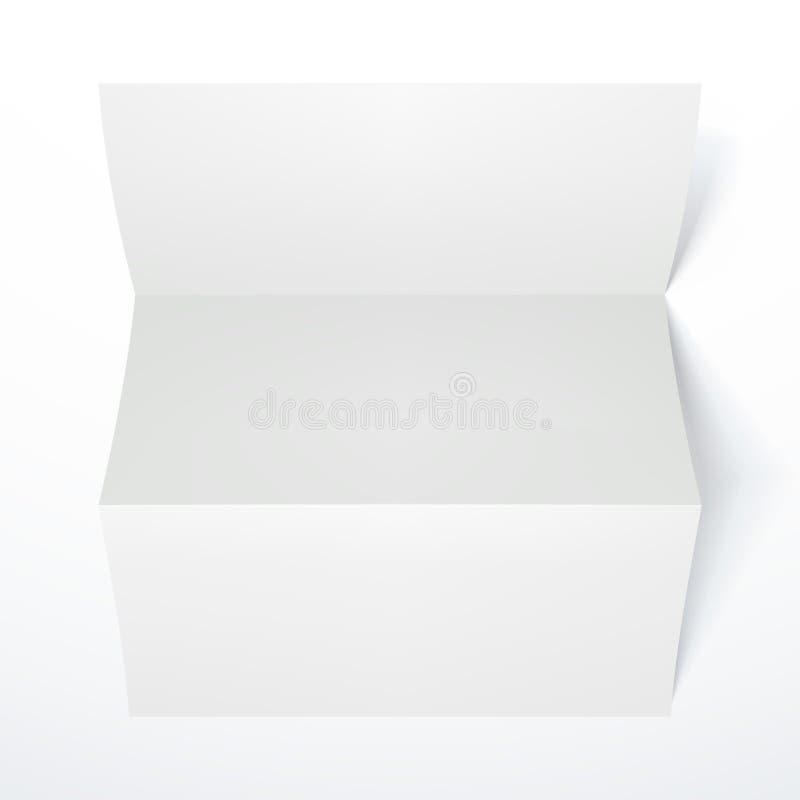 Prospecto de papel doblado blanco en blanco ilustración del vector