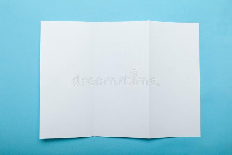 Prospecto del aviador del DL, folleto triple imágenes de archivo libres de regalías