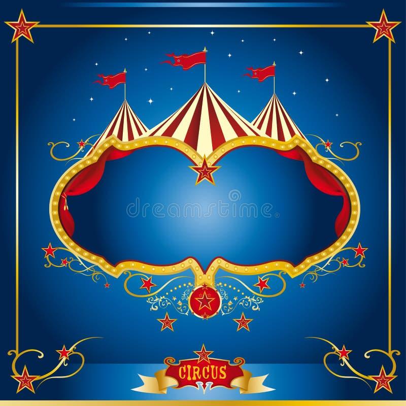 Prospecto del azul del circo ilustración del vector