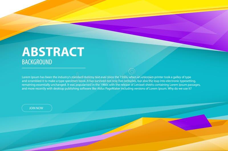 Prospecto moderno geométrico de la compañía del diseño de negocio del fondo del extracto, aviador, plantilla de la cubierta Azul  ilustración del vector