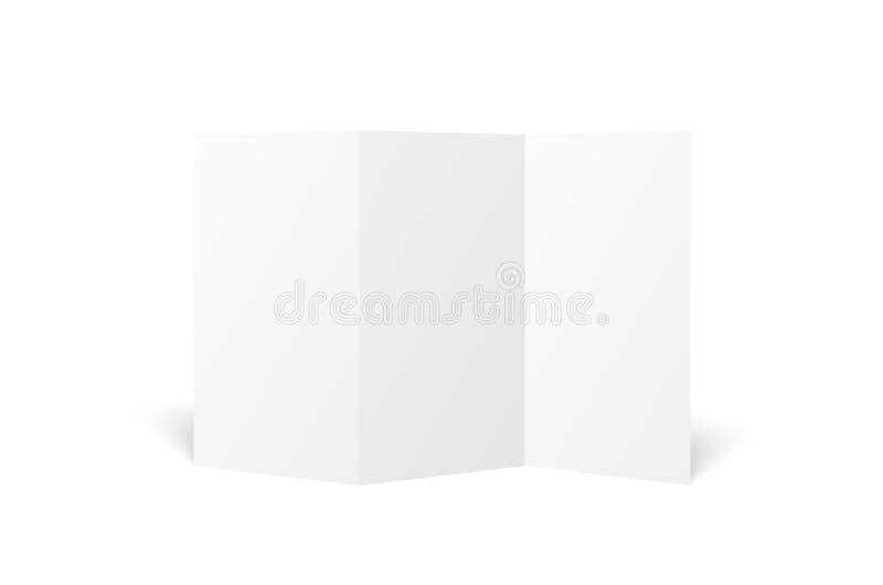 Prospecto triple blanco en blanco del vector abierto libre illustration