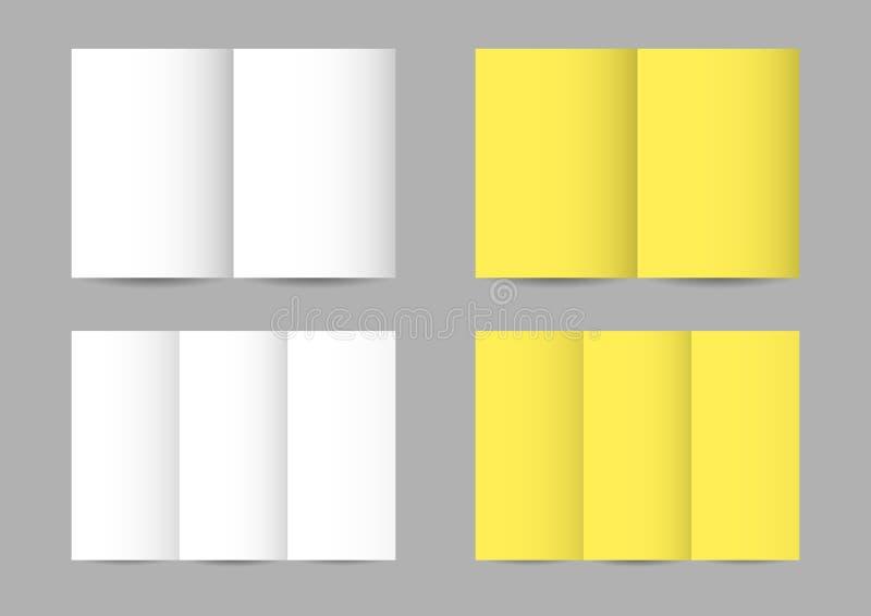 Prospectos de papel doblados vector stock de ilustración