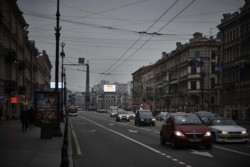 Prospekt de Nevskiy au St Petersbourg, Russie photo libre de droits