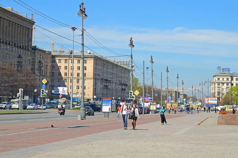 Prospekt di Moskovsky a Pietroburgo, Russia. fotografie stock libere da diritti