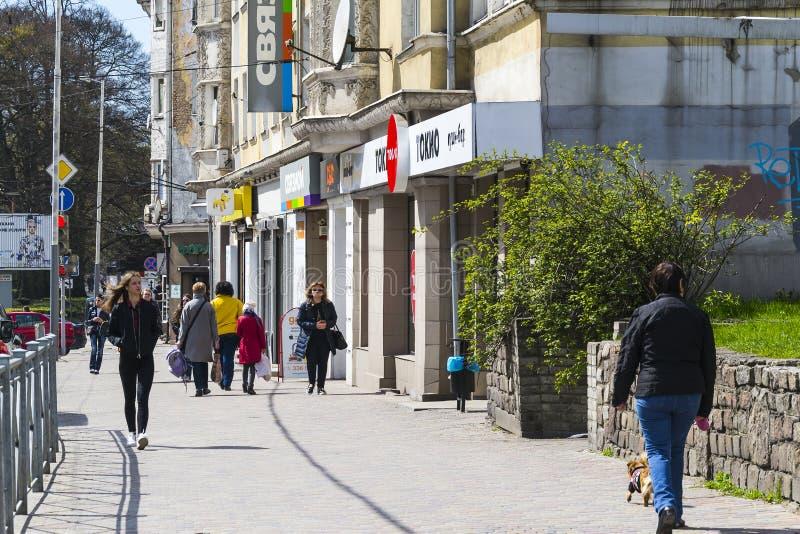 Prospekt Mira w Kaliningrad zdjęcie royalty free