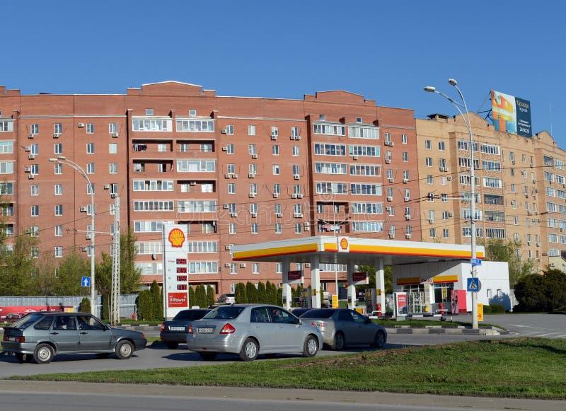 Prospekt Stroiteley dans Volgodonsk photographie stock